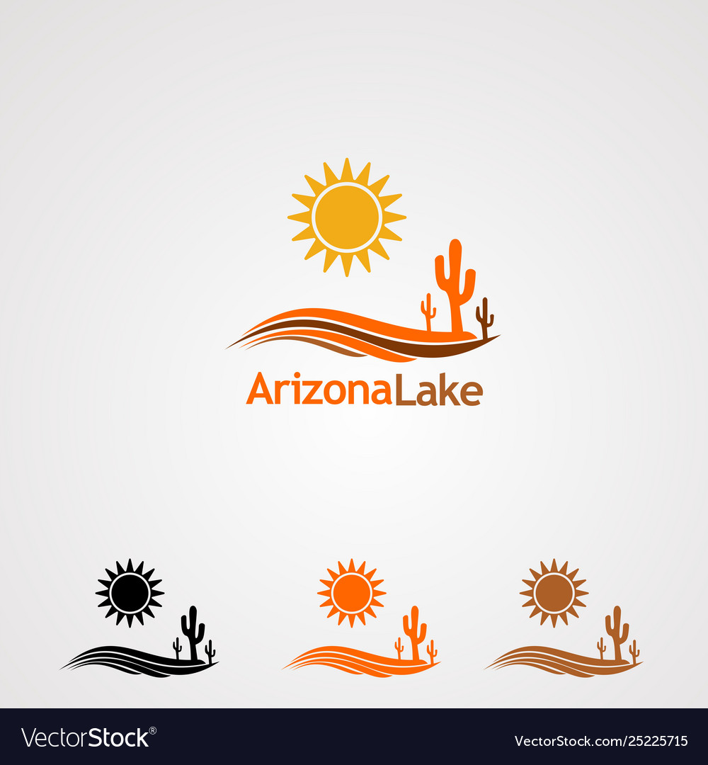 Arizona lake logo icon element and template for