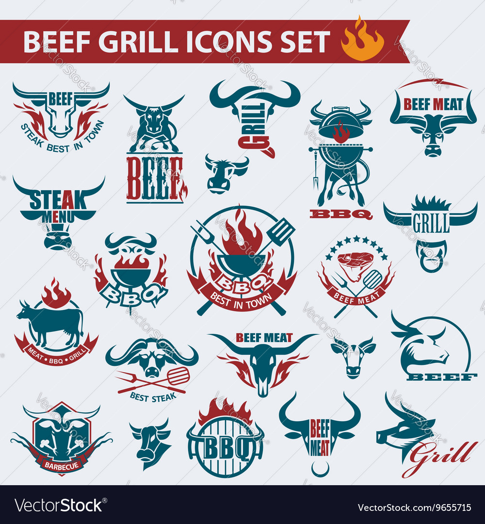 Beef meat icons