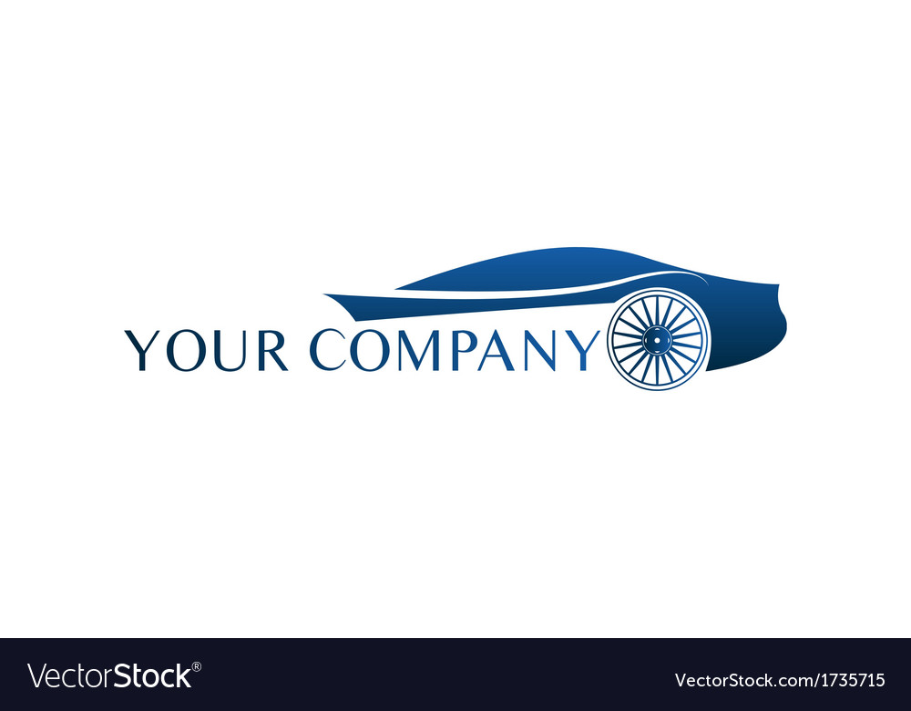 Blue car logo vector image