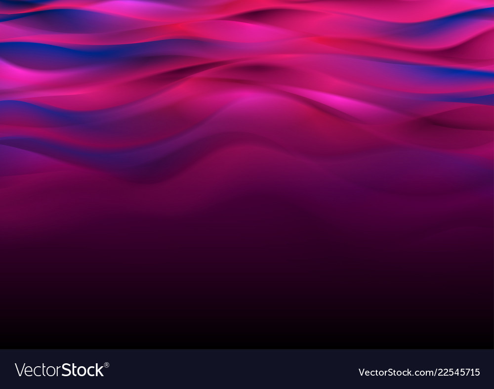 Blue purple abstract smooth blurred waves