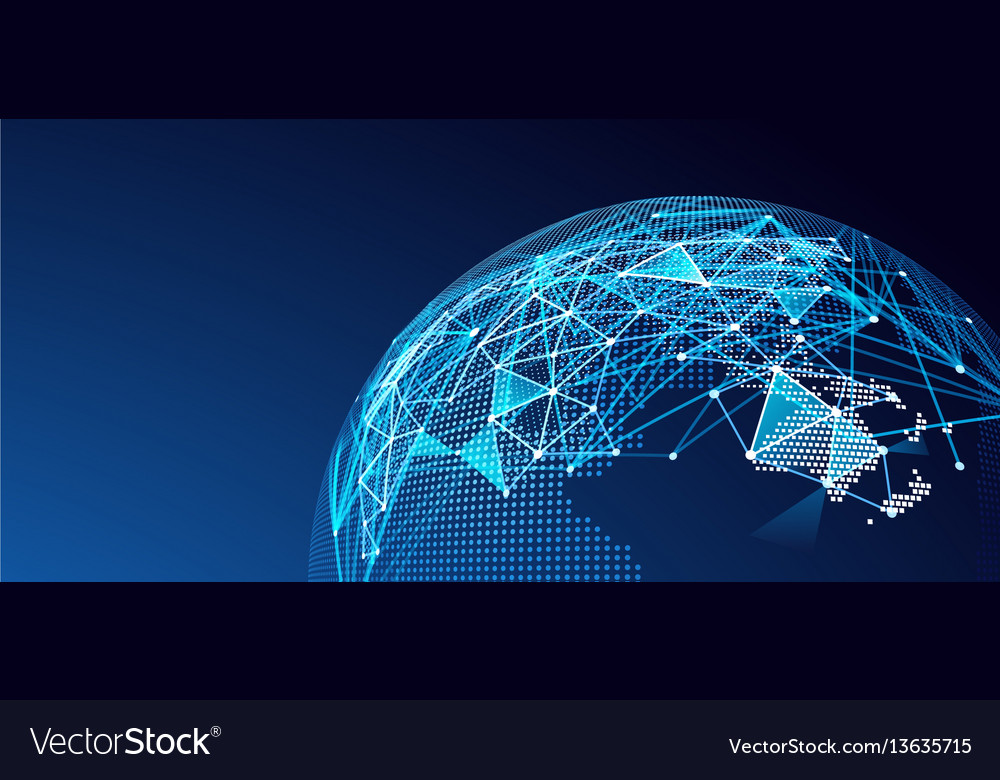 Digital network vector image