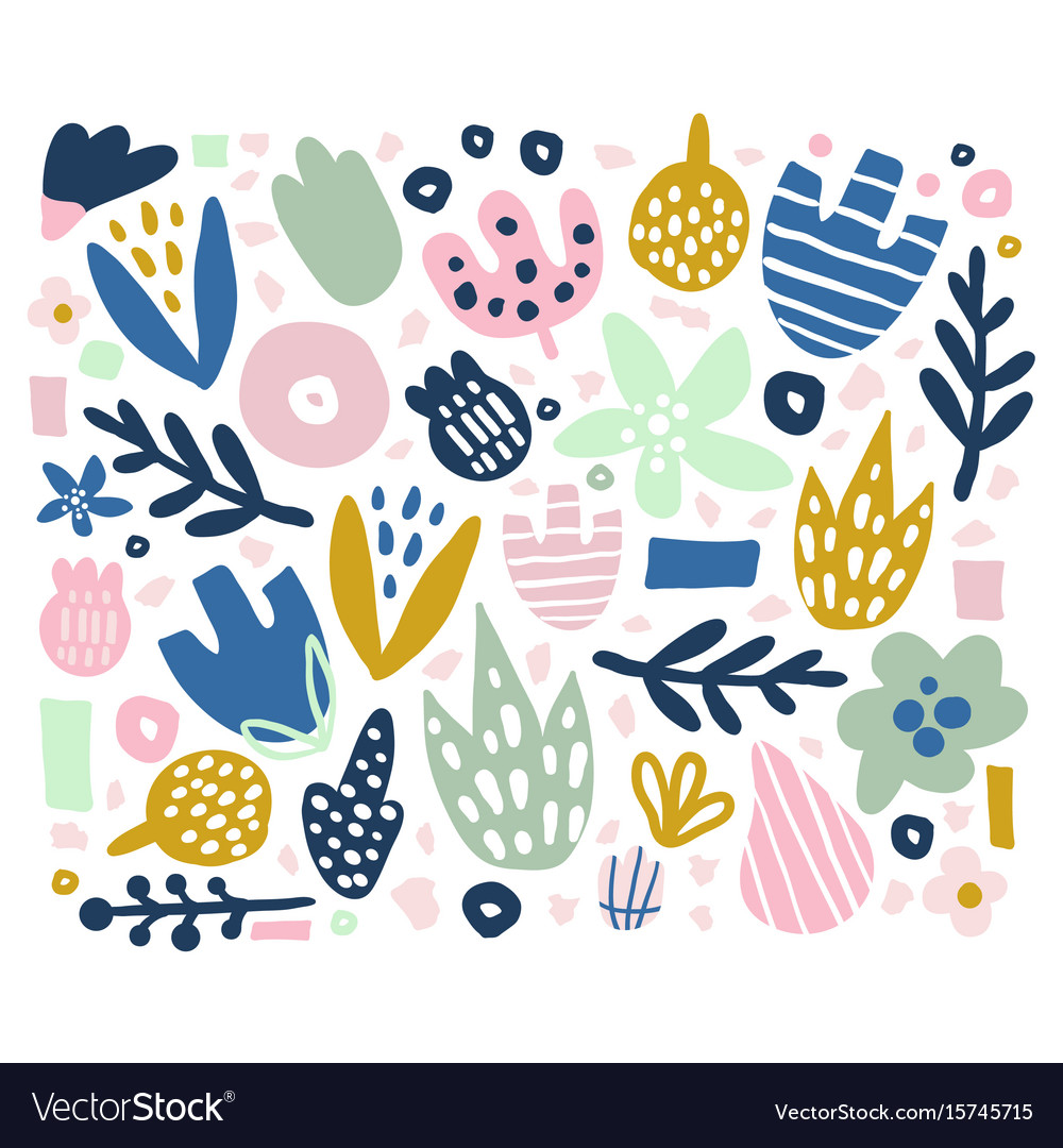 Floral background with unusual flowers and