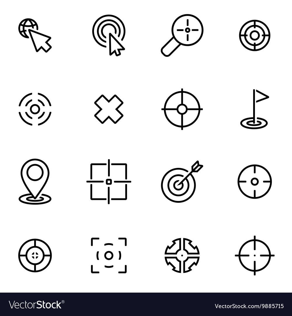 Line target icon set