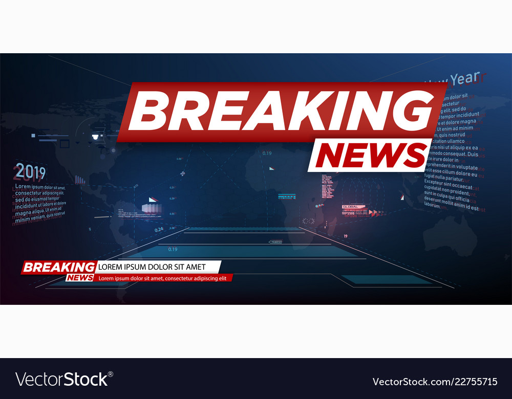 Modern futuristic template for news on background