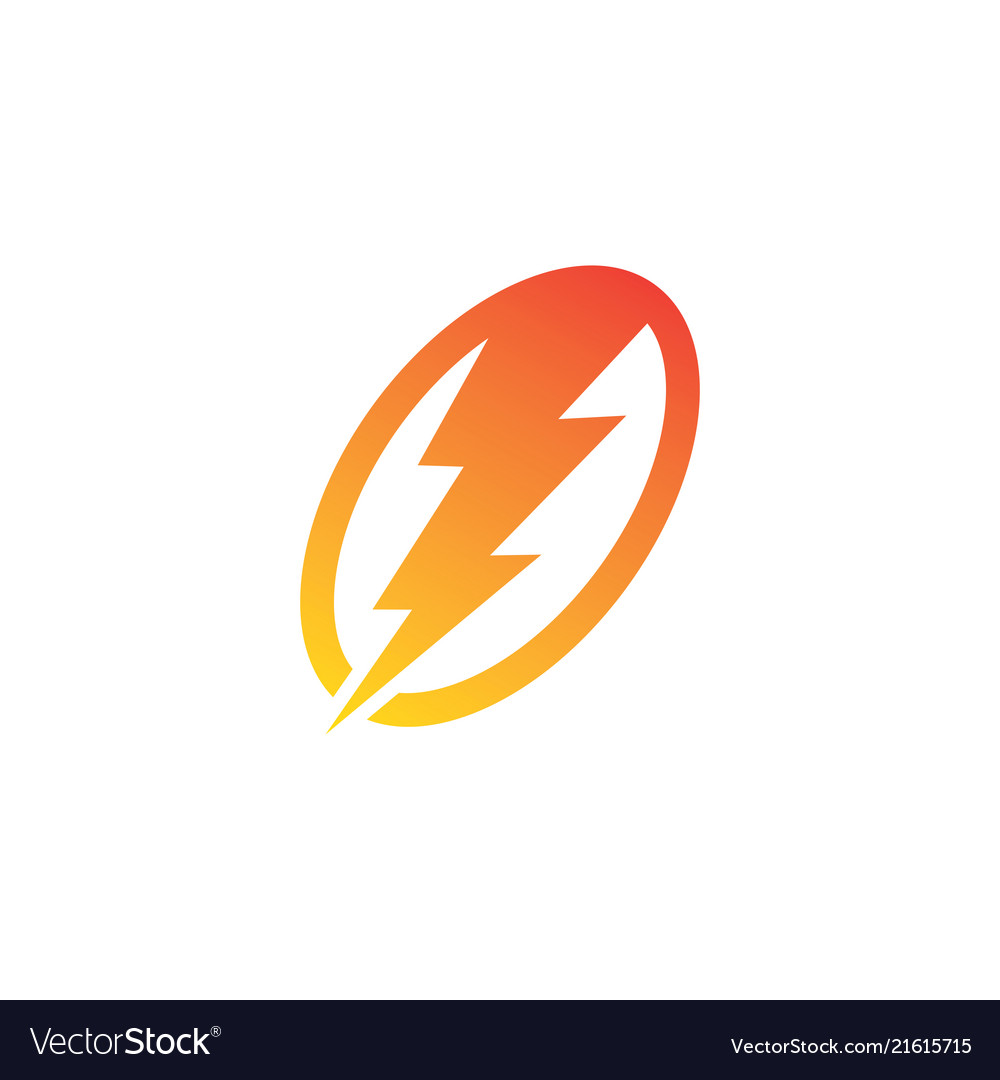 thunder electric logo royalty free vector image vectorstock