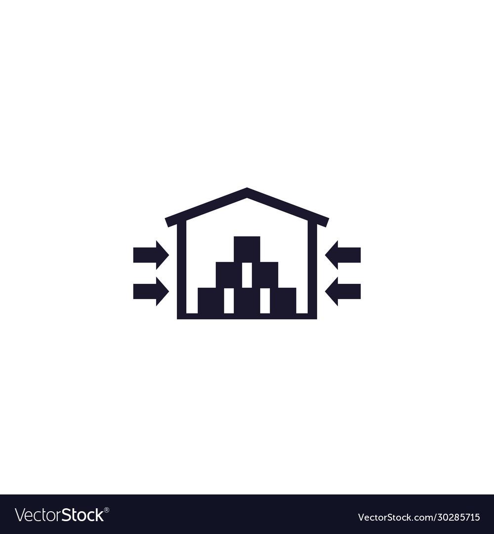 Warehouse storage facility icon