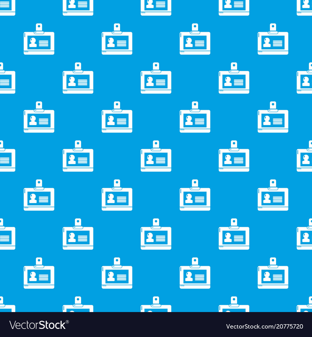 Badge office pattern seamless blue