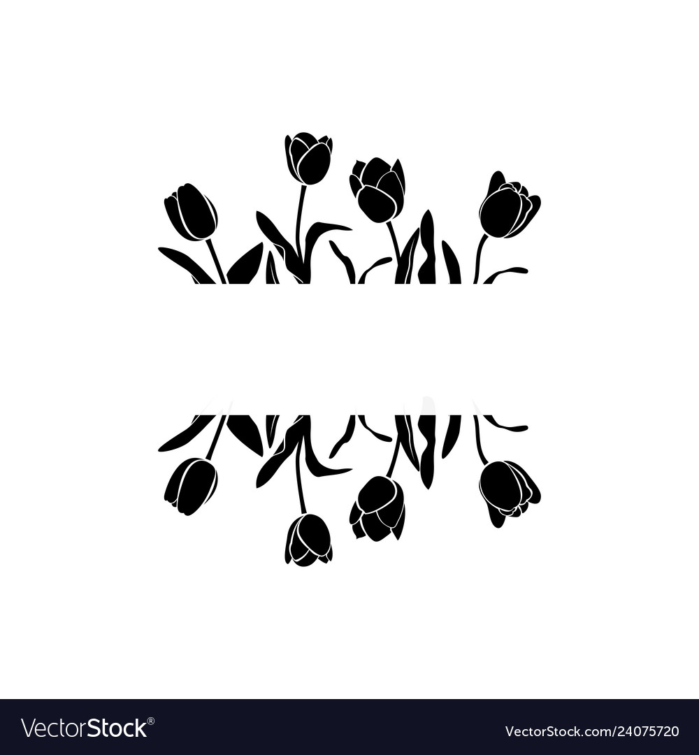 Black tulips page decorarion