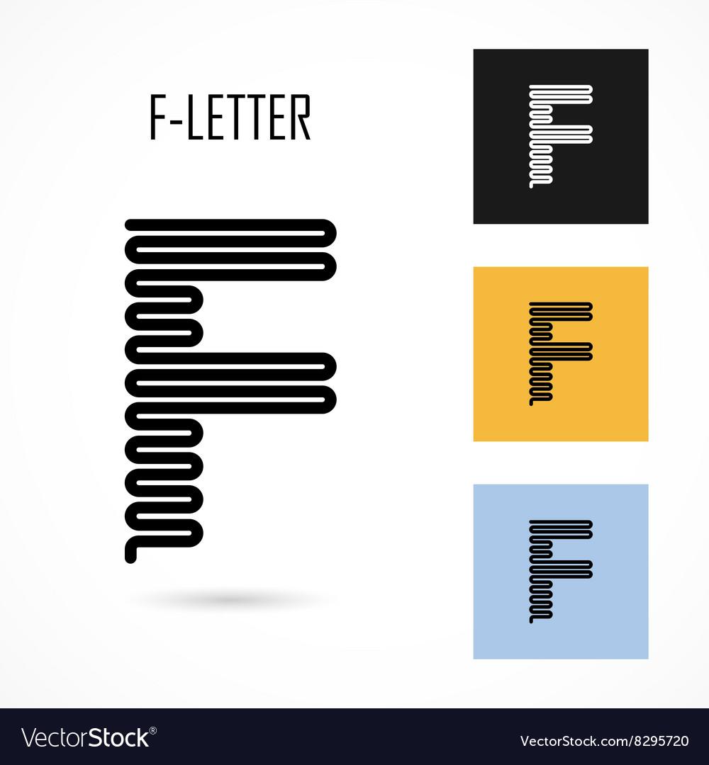 Creative F - letter icon abstract logo design