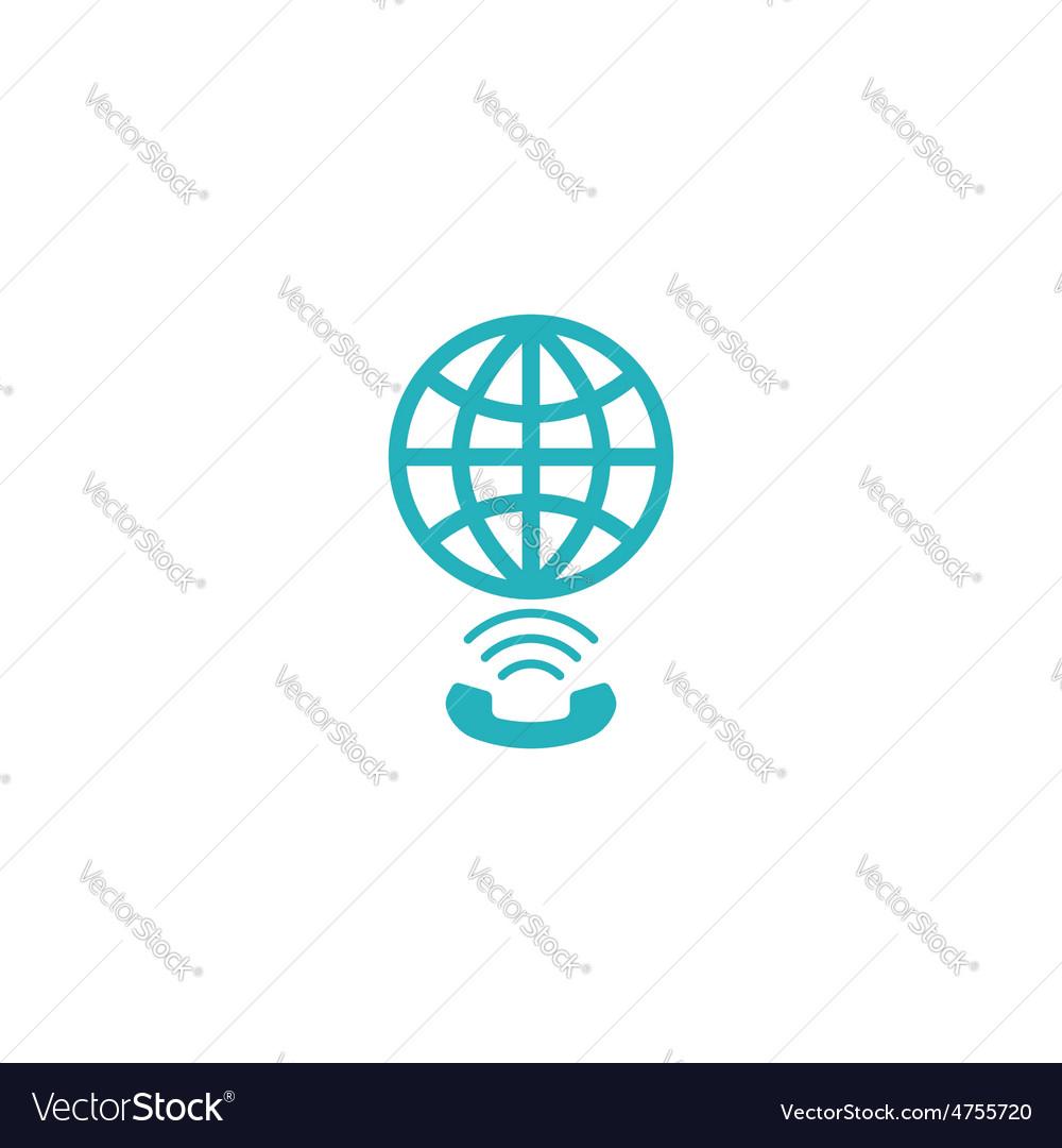 Globe link logo concept app social global network