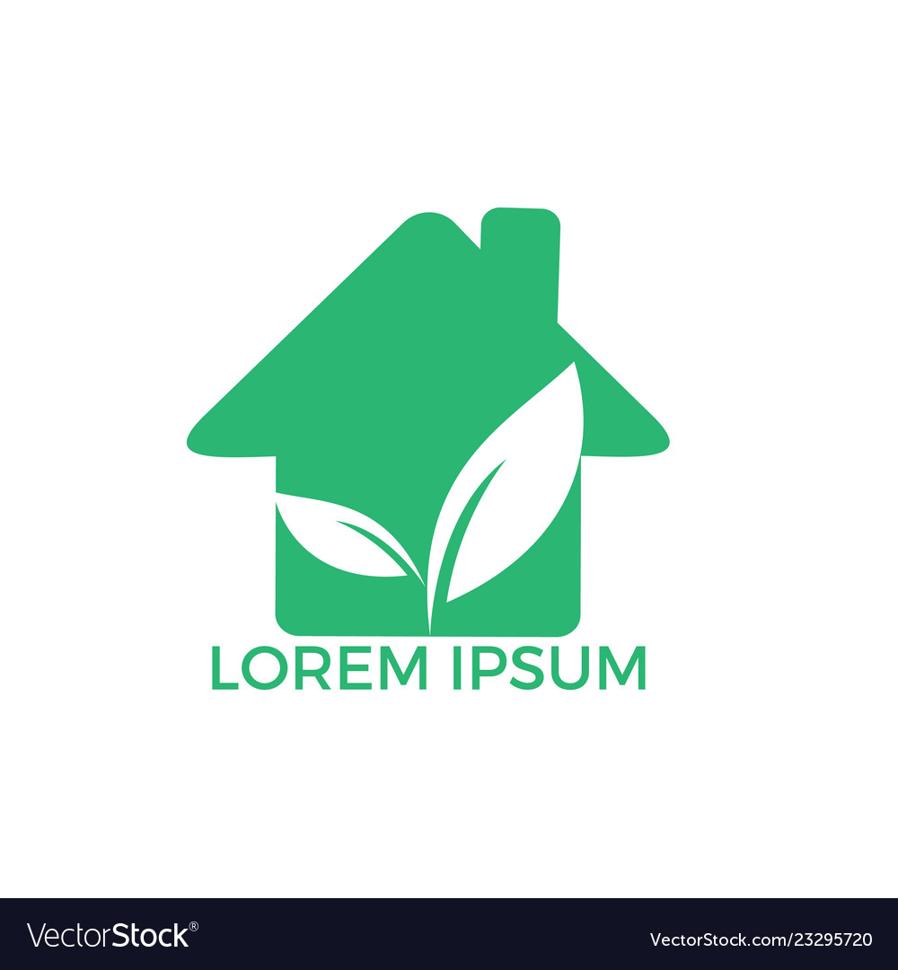 Green home with leaf design