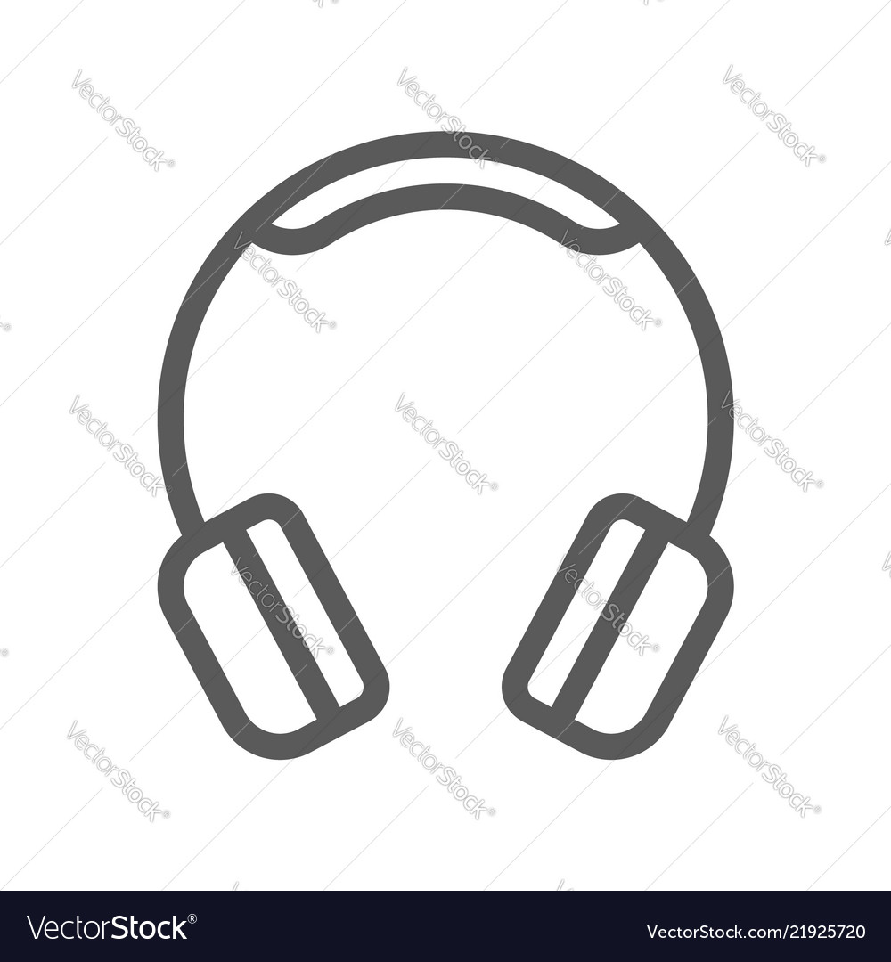 Headphones electronic devices line icon