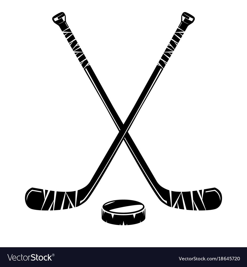 isolated hockey stick royalty free vector image rh vectorstock com hockey stick vector art hockey stick vector free