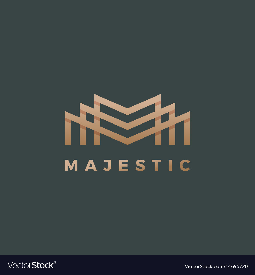 Majestic abstract geometry minimal sign