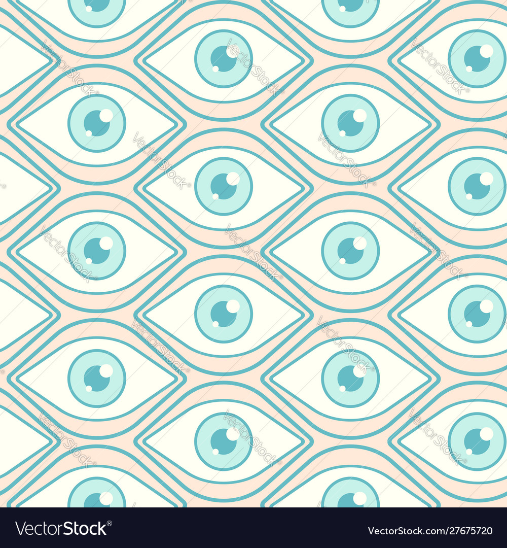 Pattern with open eyes