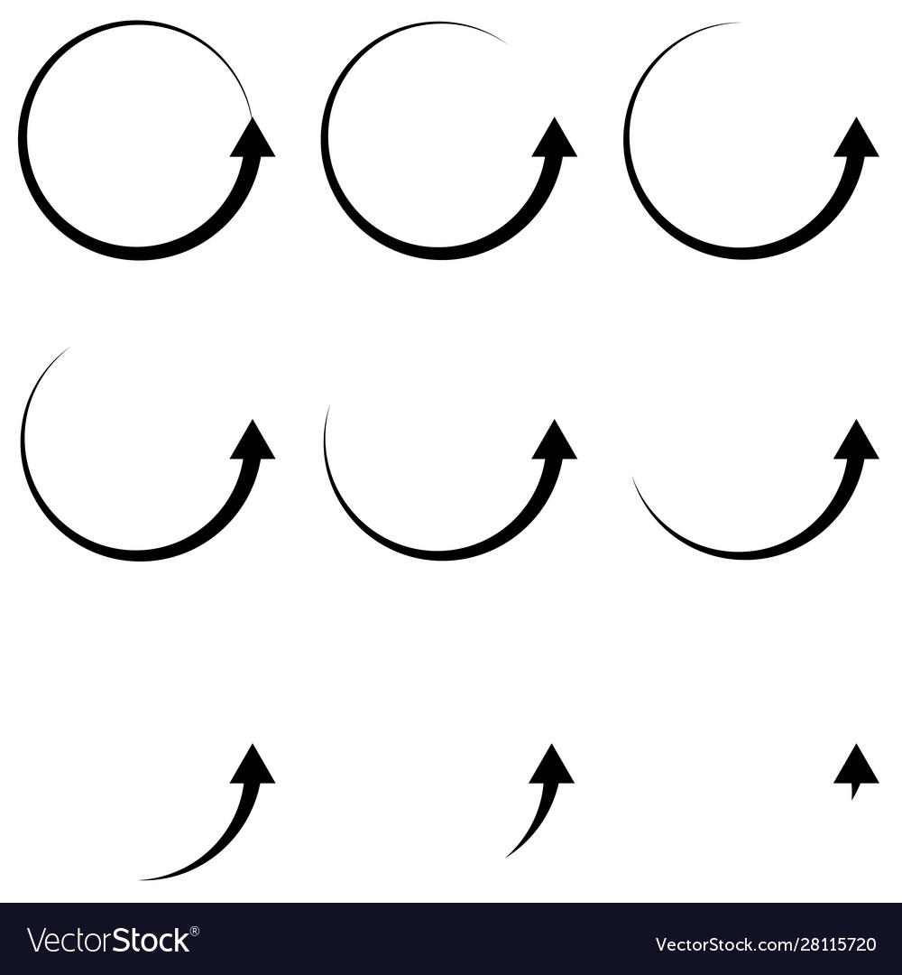 Set arrow pointer up icon circular