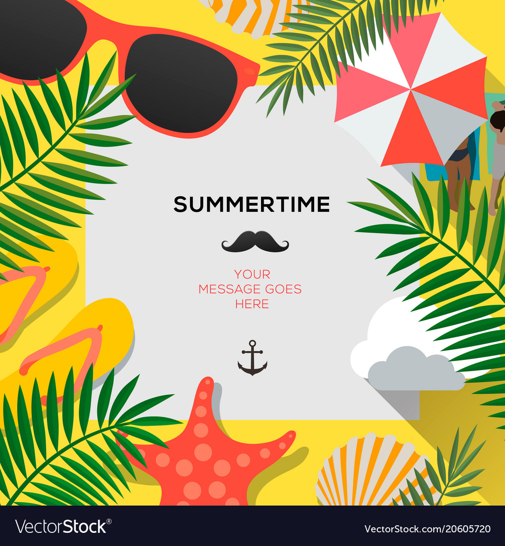 Summer web banner background hello summer holiday vector image