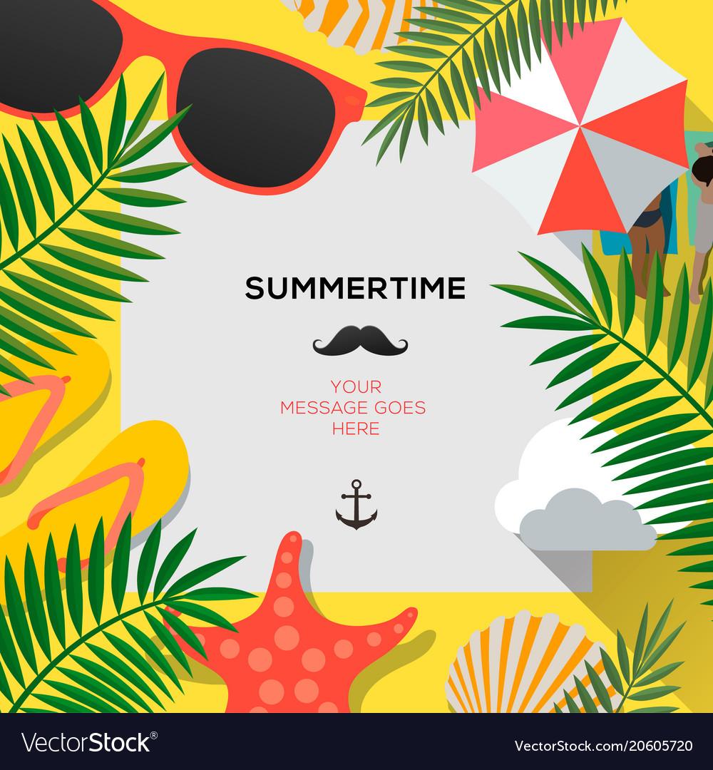 Summer web banner background hello summer holiday