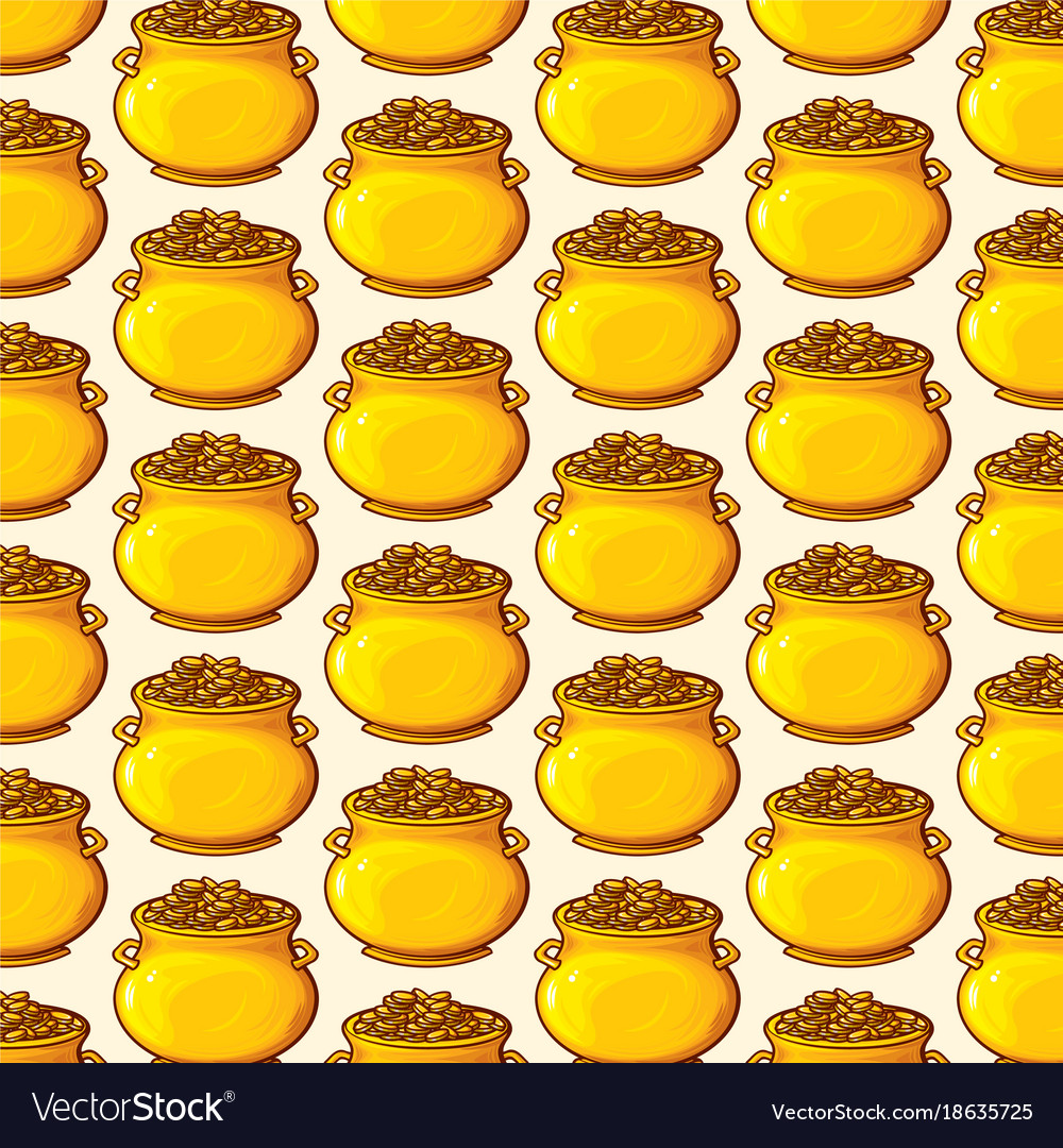 Background pattern with potatoes vector image