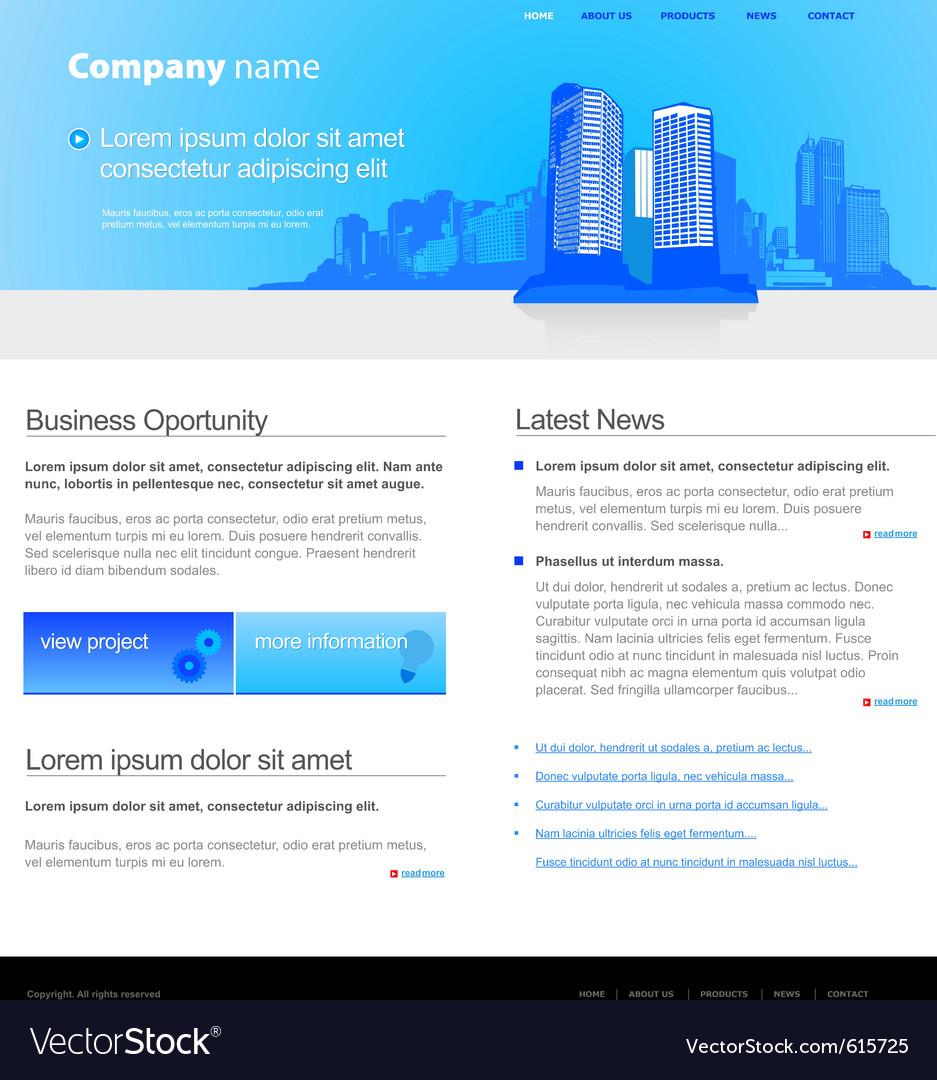 City website template
