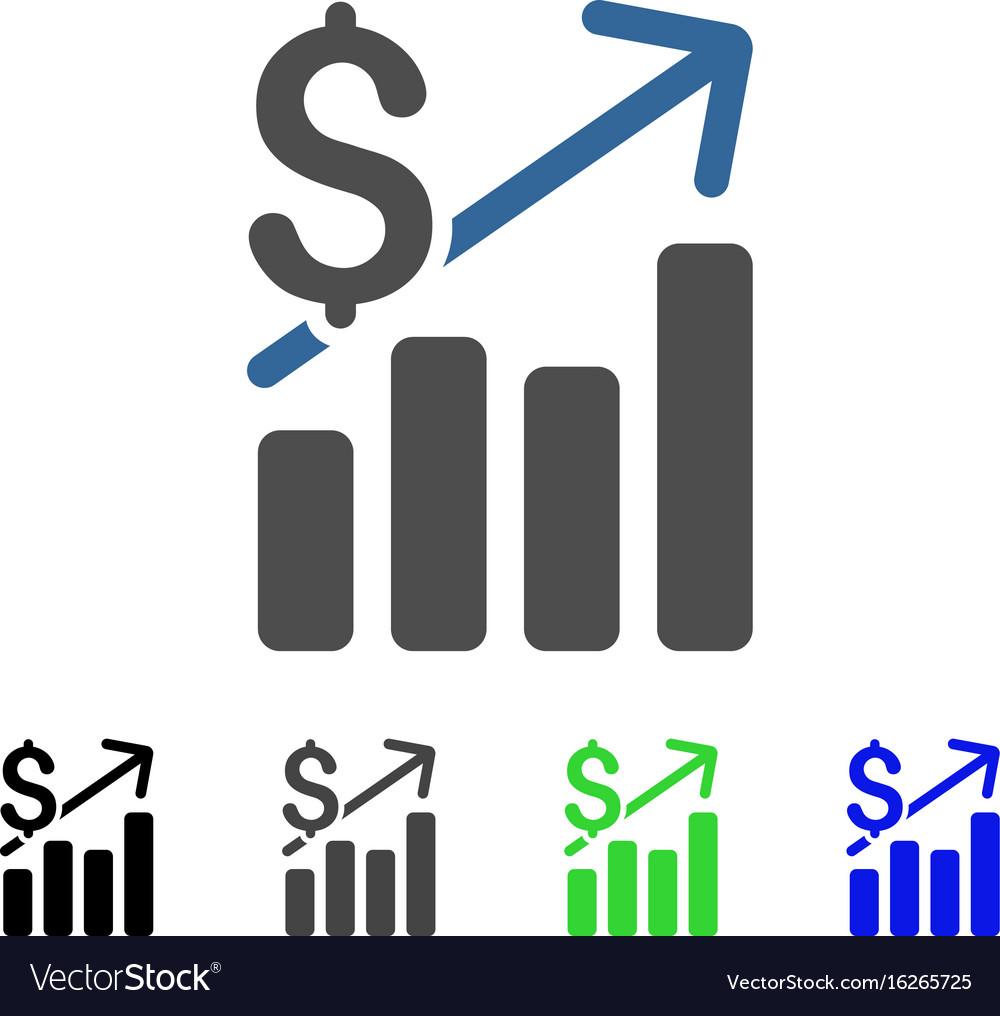 Financial chart flat icon