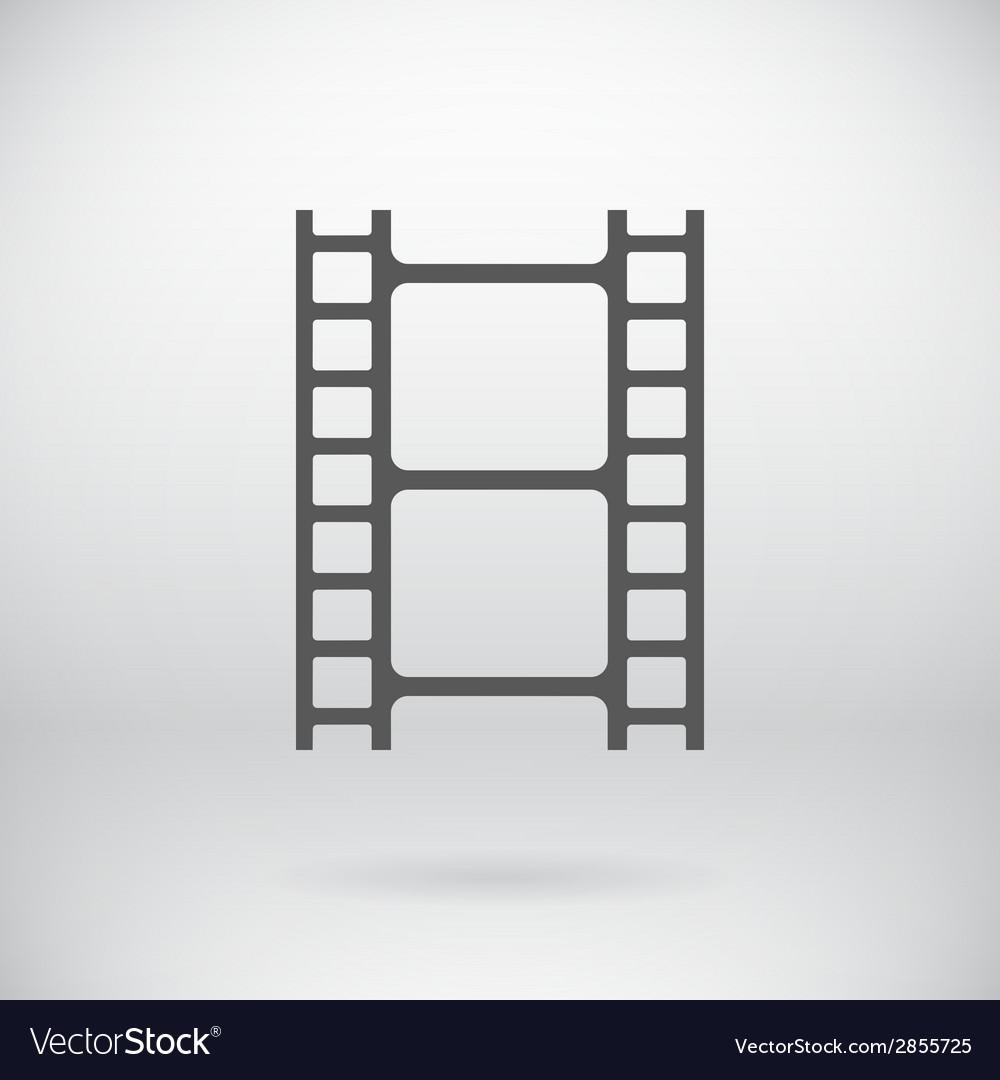 Flat Movie Film Strip Light Icon Symbol Background