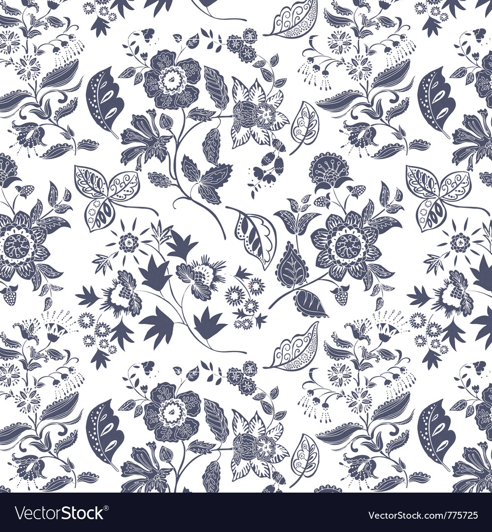 Floral Print Royalty Free Vector Image Vectorstock