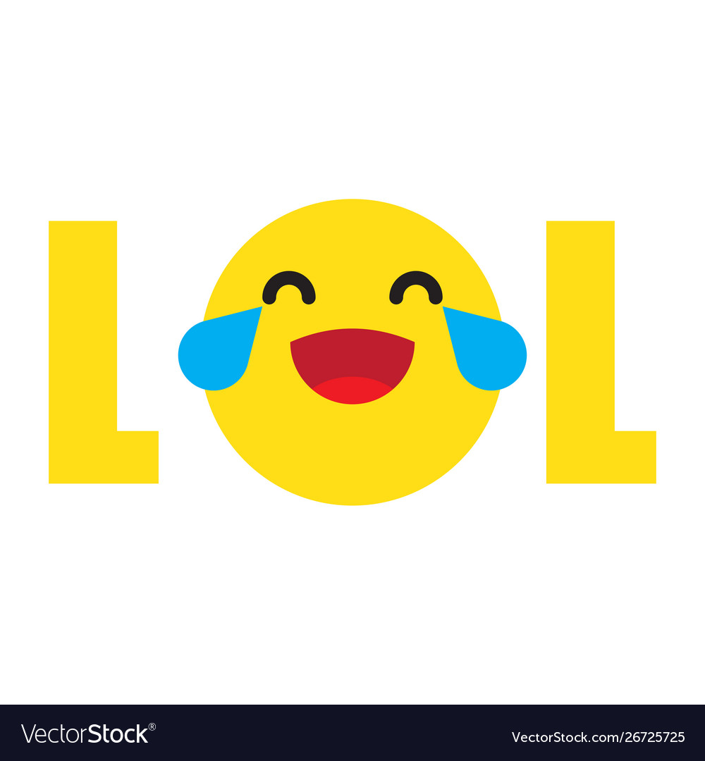 Funny Lol Emoji Royalty Free Vector Image Vectorstock