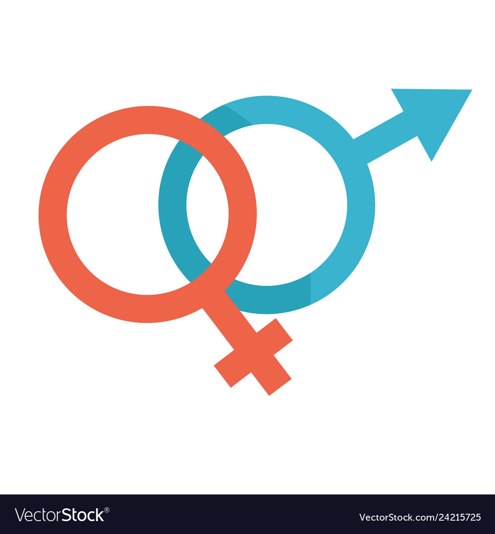 Man and woman sign male and female symbols