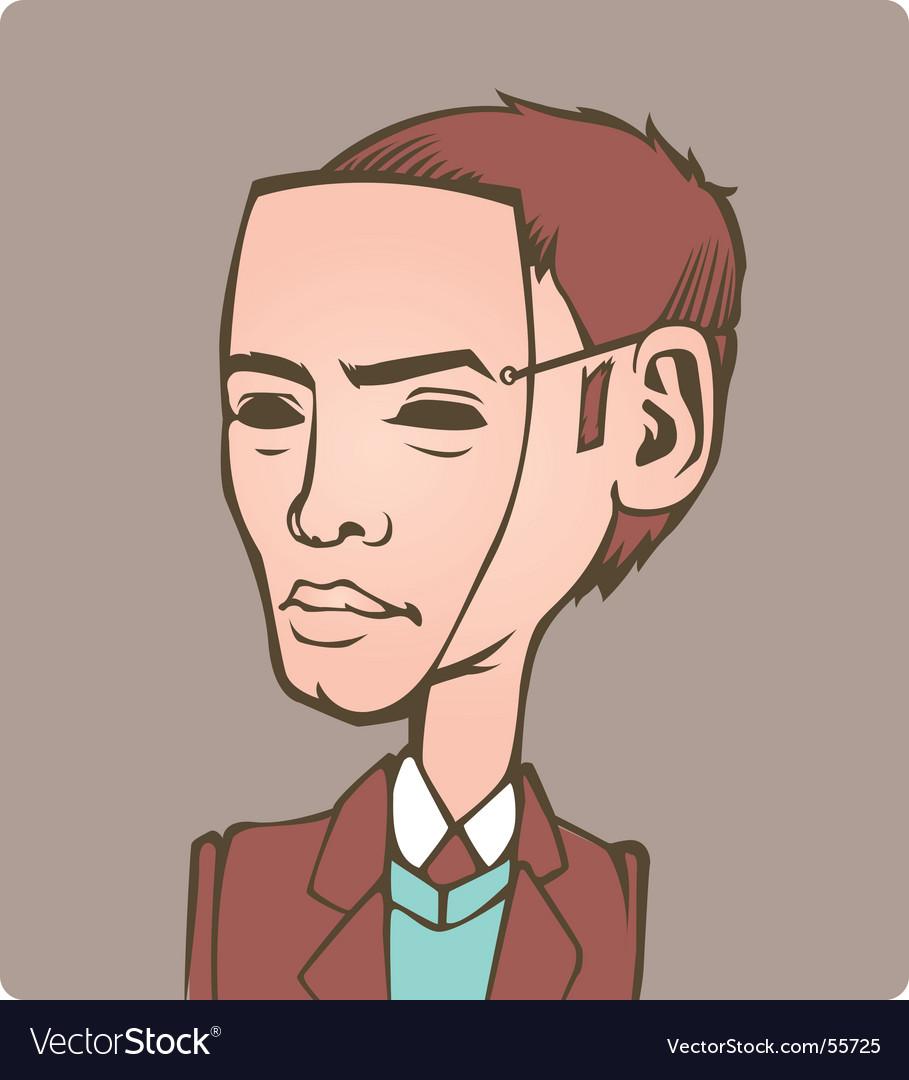 Masked man vector image