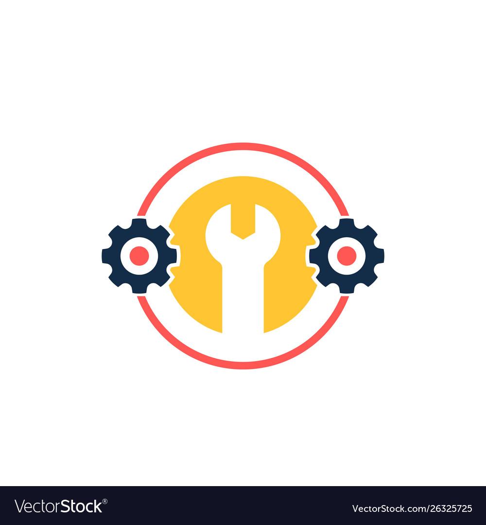 Optimization settings icon with cogwheel