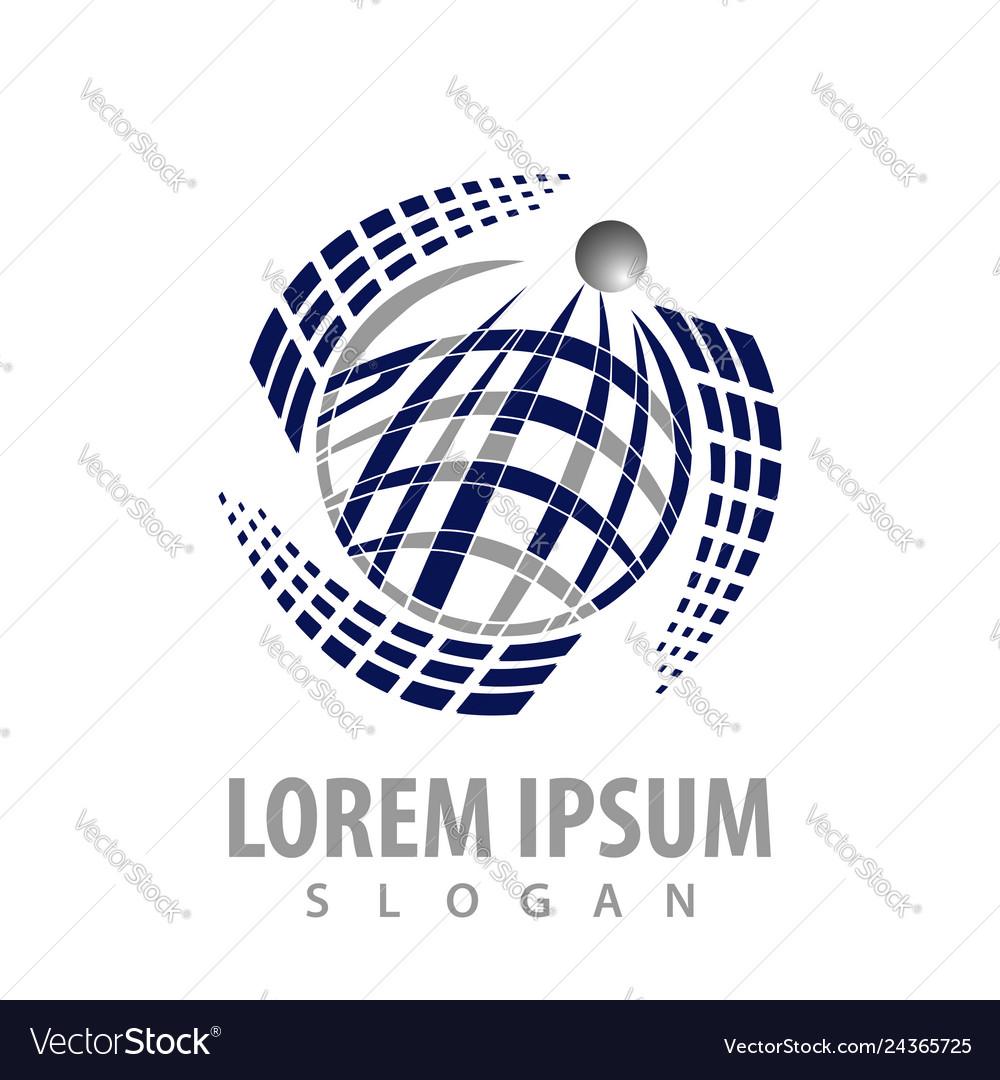 Rotate global technology concept design symbol