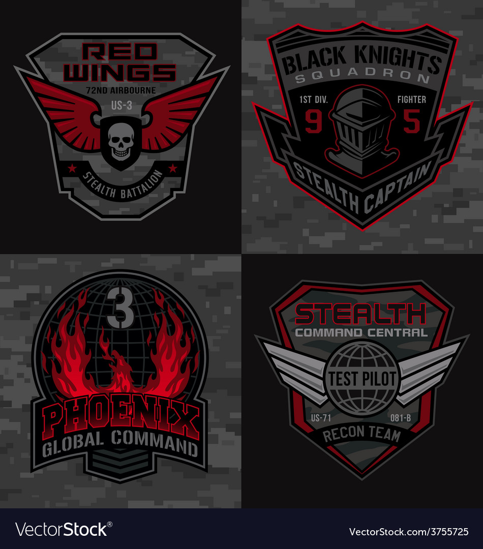 Stealth pilot military patches