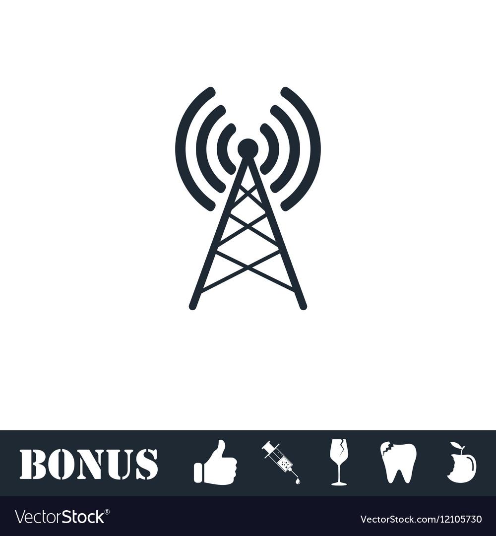 Antenna icon flat vector image