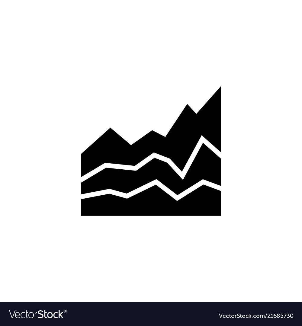 Business diagram graph chart flat icon