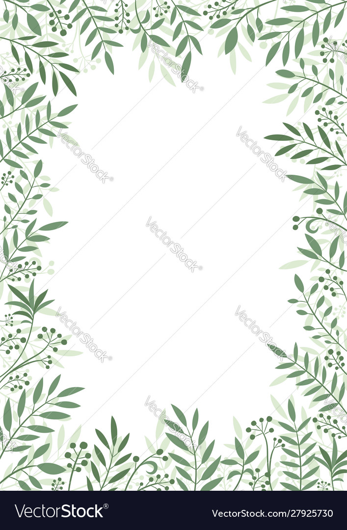 Frame plants and leaves