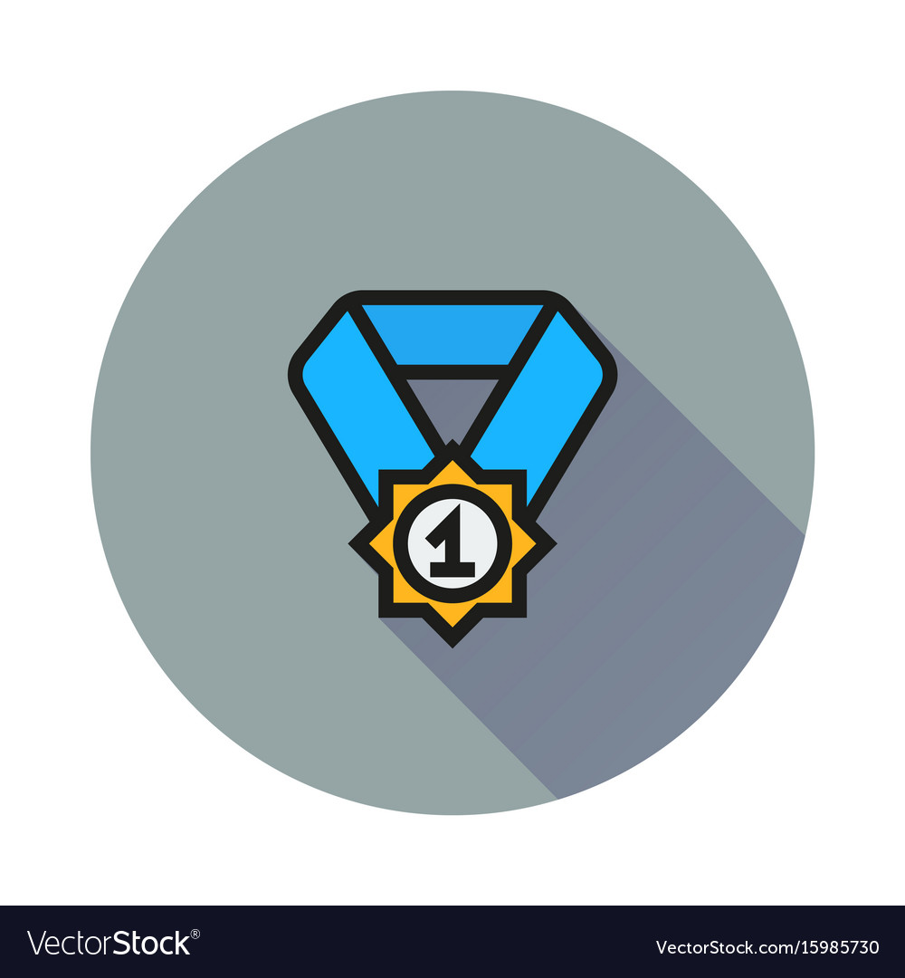 Pictograph of award icon on round background