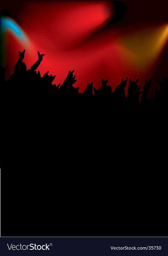 Rock concert tall vector image