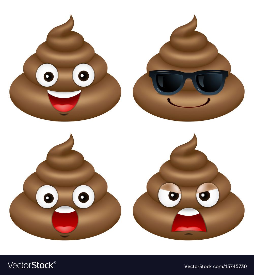 poop emoji cute happy vector emotional royalty vectorstock