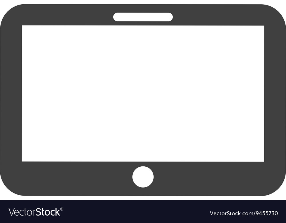 Tablet device isolated icon design vector image