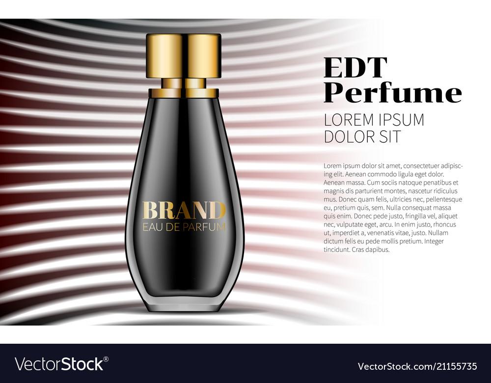 Aroma liquid perfume beautiful black bottle haute