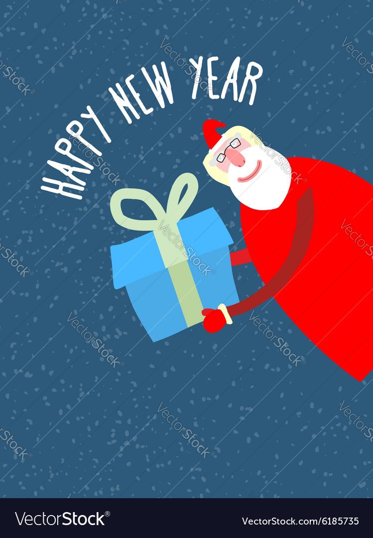 Santa Claus gives reat gift holiday card