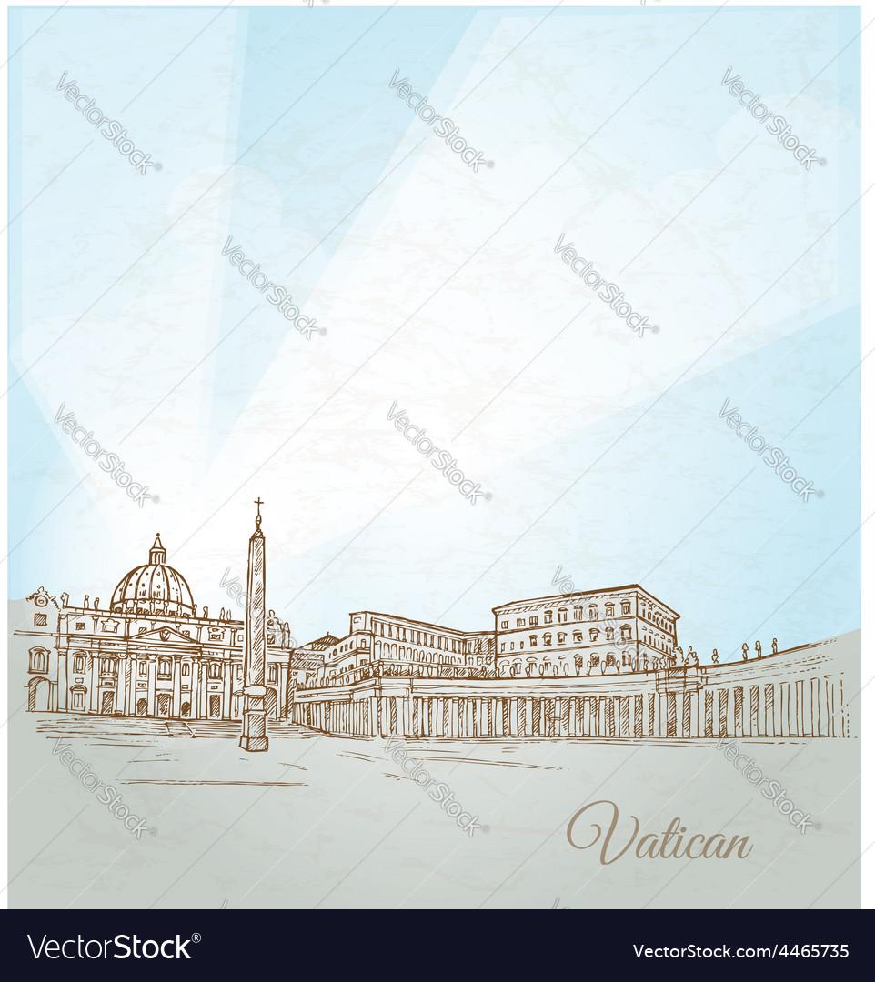Vatican city background