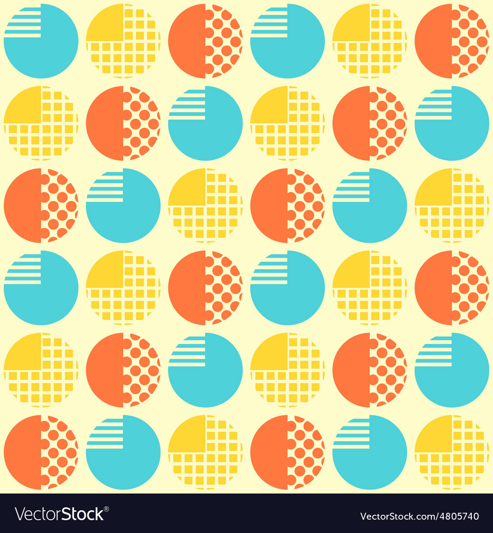 Abstract seamless pattern with geometrical objects