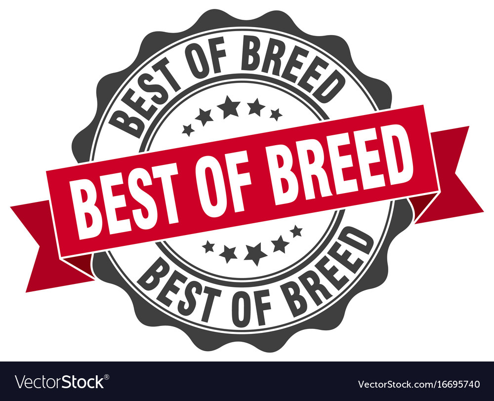 best of breed stamp sign seal royalty free vector image