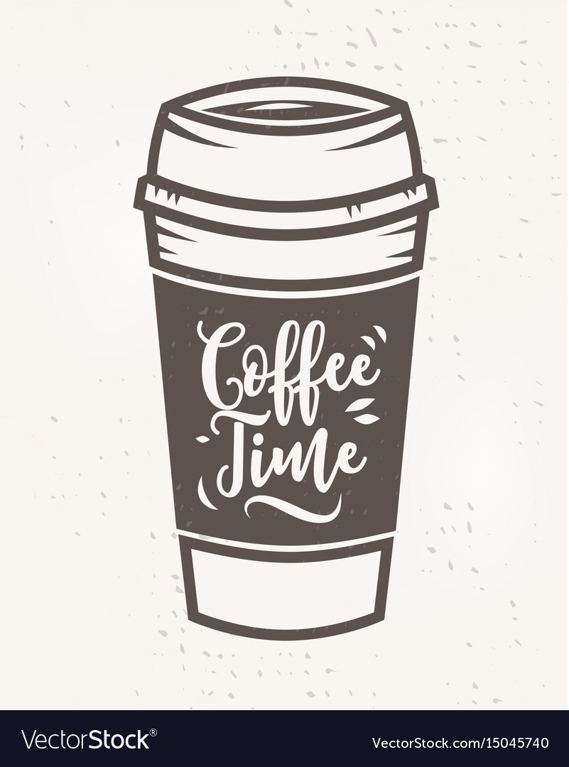 Coffee time poster with cool design