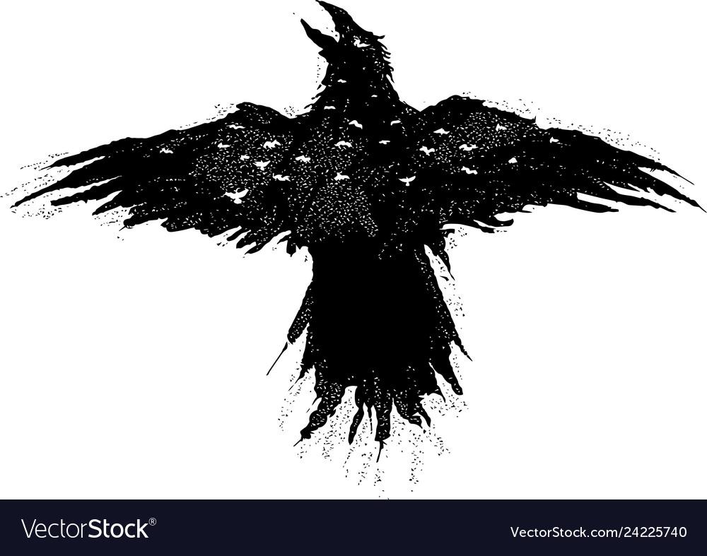 Flying eagle night