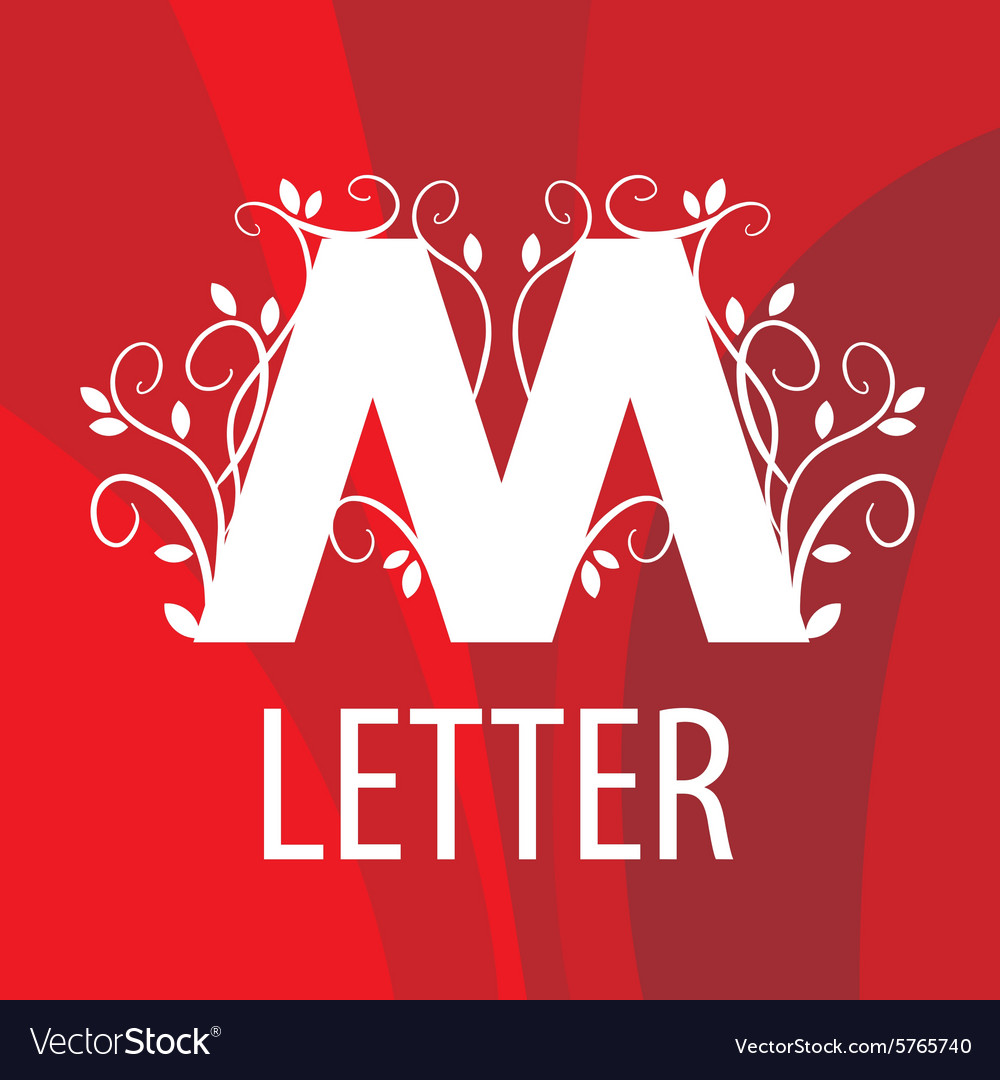 Logo the letter M with vegetable patterns