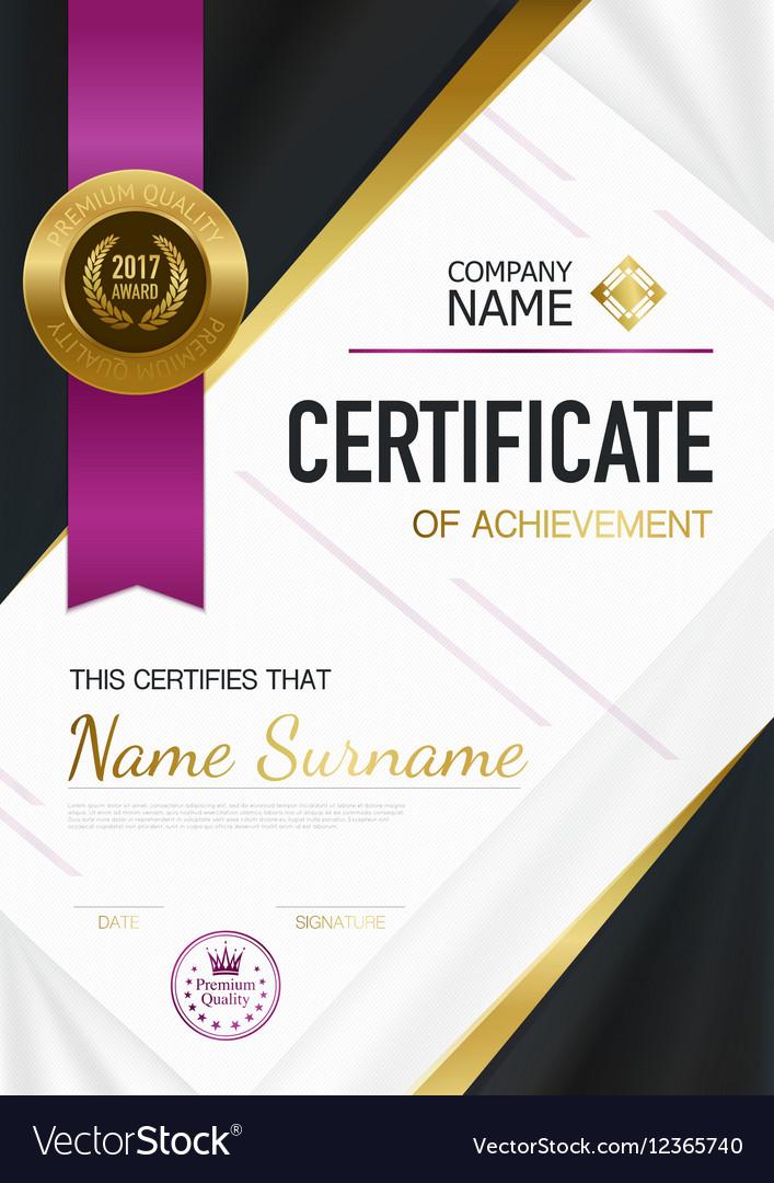Modern Certificate Of Achievement Template vector image