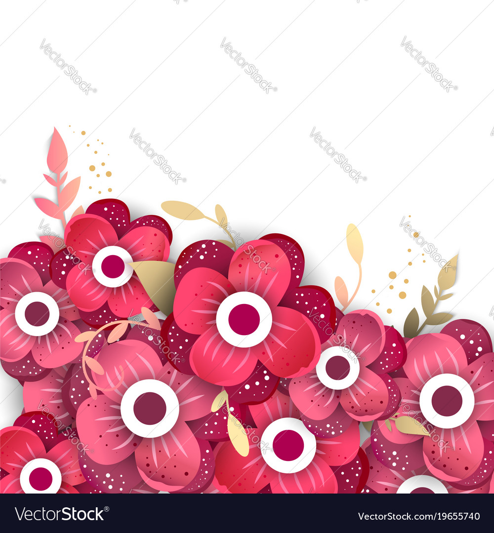 Paper Cut Style Of Bright Flowers Royalty Free Vector Image